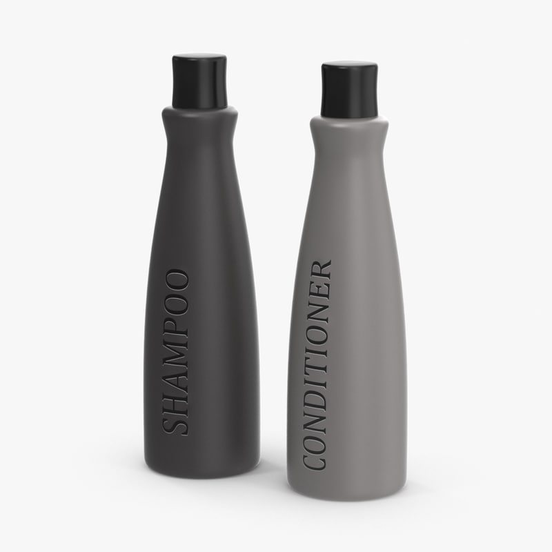 shampoo conditioner bottles 3d max