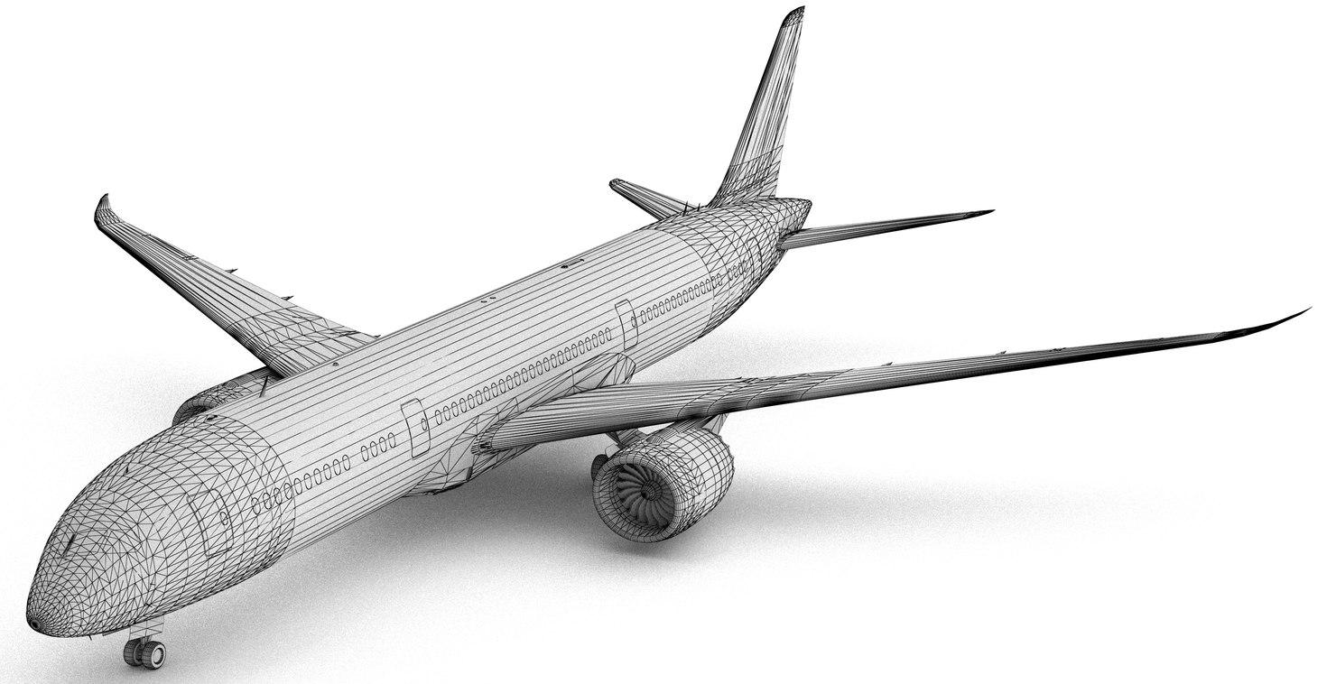 3d model boing 787-9 dreamliner