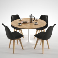3d model habitat lance dining table