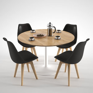 3d model habitat lance dining table