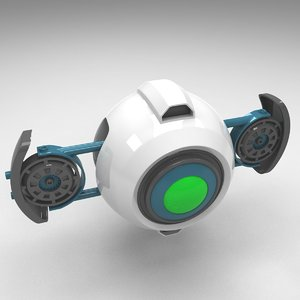 flying drone 3d model