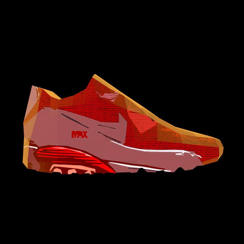 red sneaker 3d model