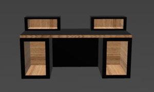 studio desk 3d model
