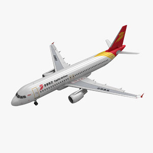 airbus a320 capital airlines 3d 3ds