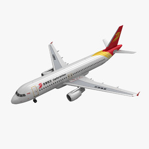 airbus a320 capital airlines 3d max