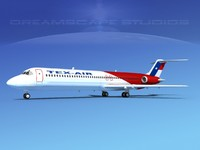 3d model turbines dc-9-50 douglas dc-9 aircraft