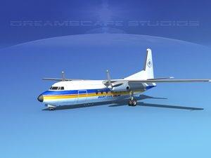 fairchild airliner obj