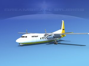 fairchild airliner 3d model