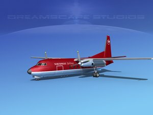 3d fairchild airliner model