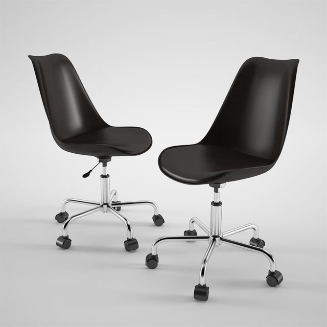 habitat ginnie office chair 3d model