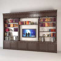 built-in bookcase 3d model
