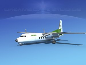 3d model fairchild airliner