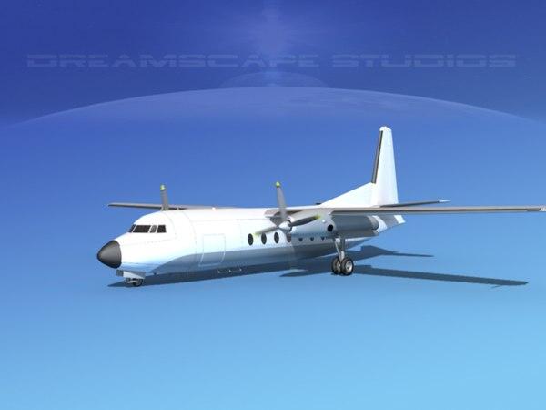 3d model fairchild f-27 fokker
