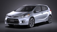 2016 hatchback kia 3d model