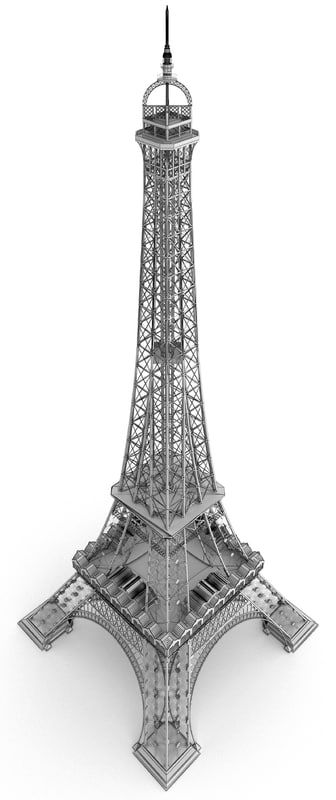 3d eiffel tower year model