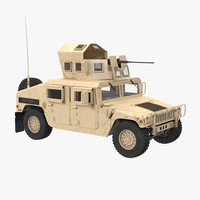 Humvee M1151 Enhanced Armament Carrier Simple Interior Desert
