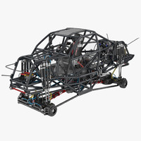 3d model monster truck bigfoot frame