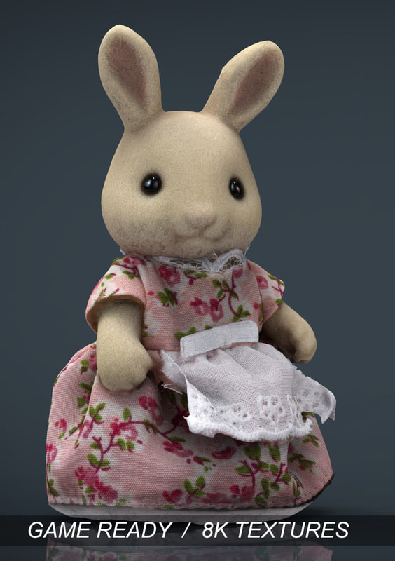 3d model rabbit mother