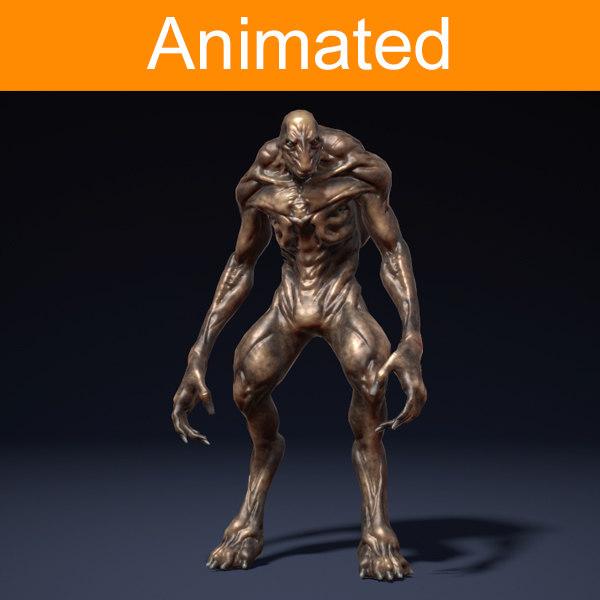 3d model of character creature alien