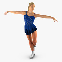 Female Figure Skater 2 Rigged