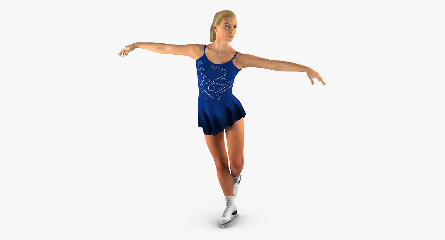 3d female figure skater 2