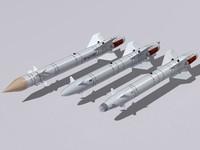 kh-25 family missile 3d max