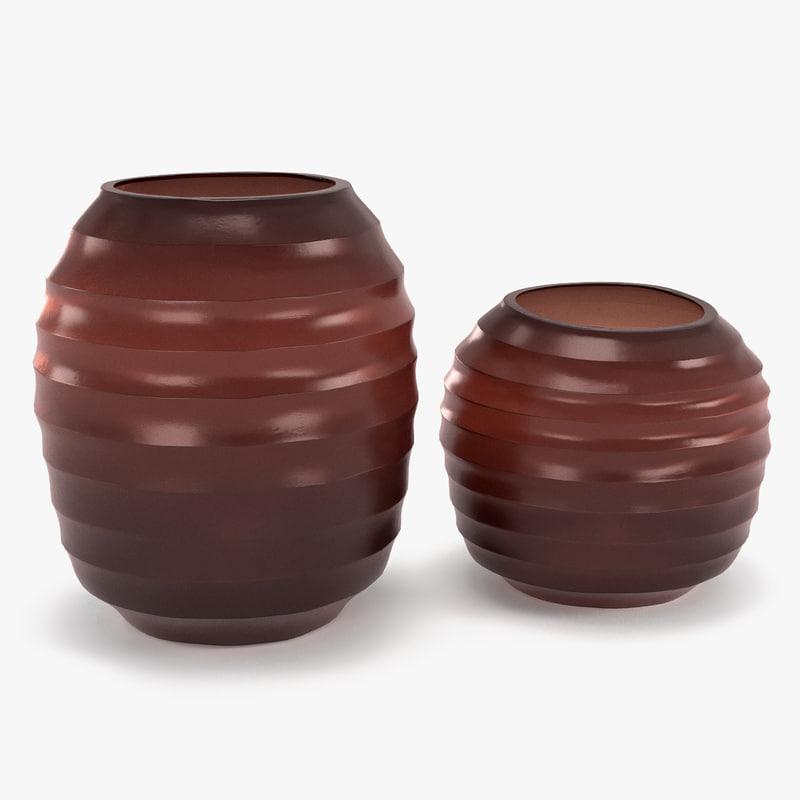 3d model guaxs vase belly