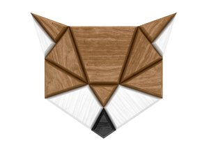 3d fox poligon model
