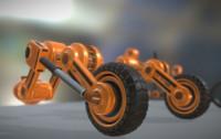 3d orange hydraulic suspension tires