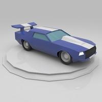 3d racing car model