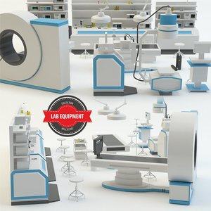 3d lab equipment model