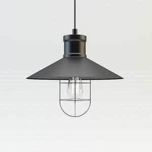 loft design lamp 3d model