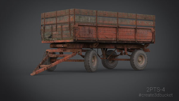 tractor trailer 2pts-4 3d model
