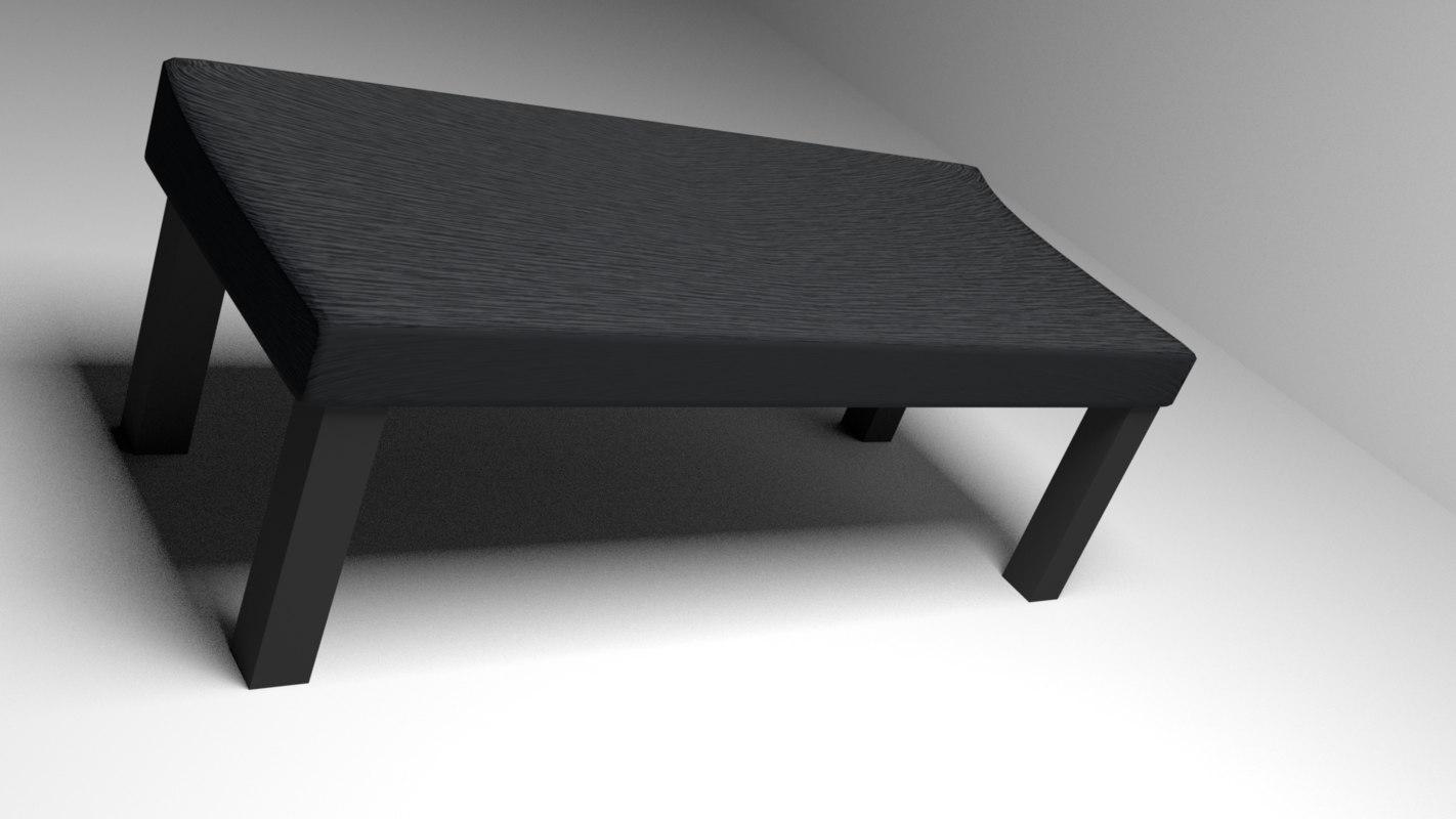 3d model of oak desk