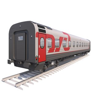 coach passenger wagon standart 3d max