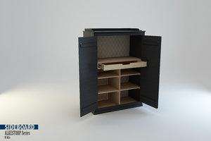 3d sideboard arkelstorp set ikea model