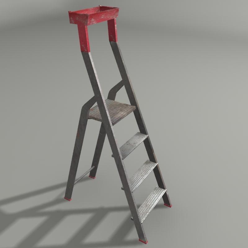 3d construction ladder model