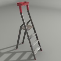 3d model of construction ladder