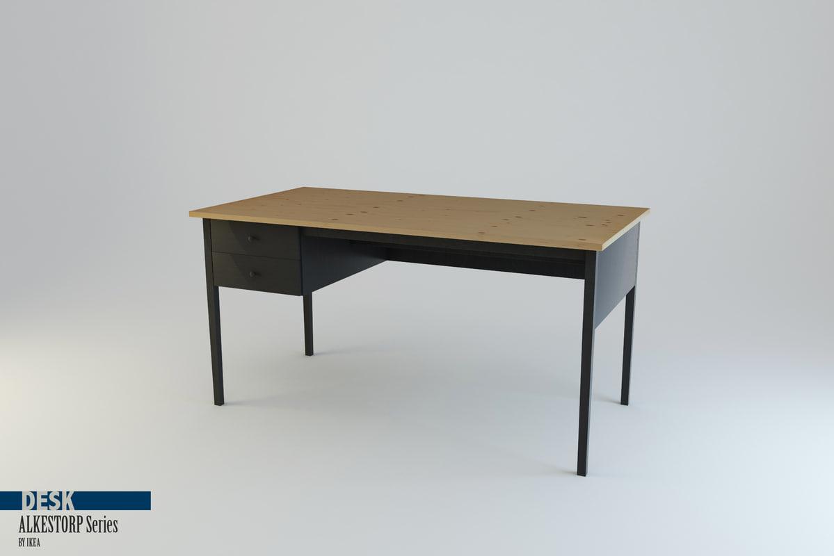 desk arkelstorp set ikea 3d model