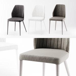 corona poliform chairs grace 3d model