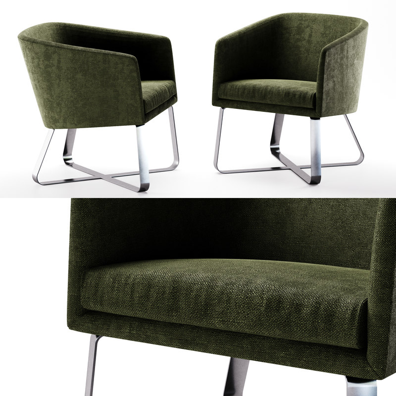 3d model photoreal meridiani lolyta chair