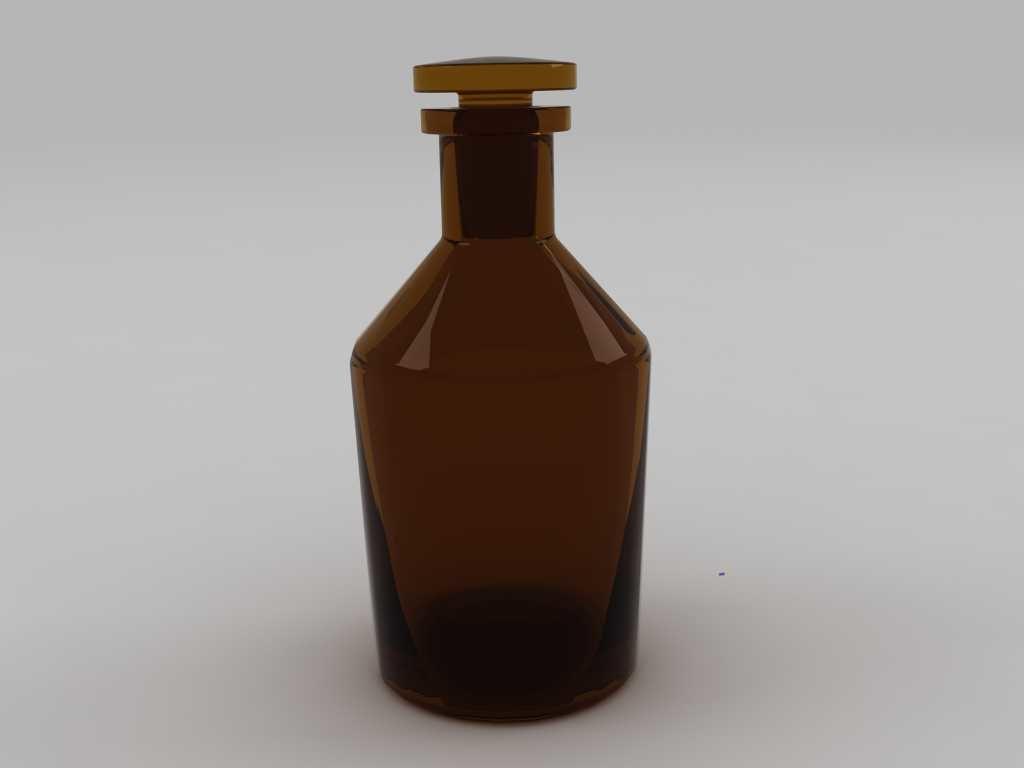 reagent bottle 500ml 3d model