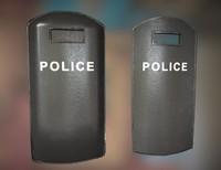 3d police shield pbr ready model