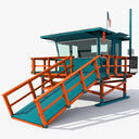 lifeguard station 3D models