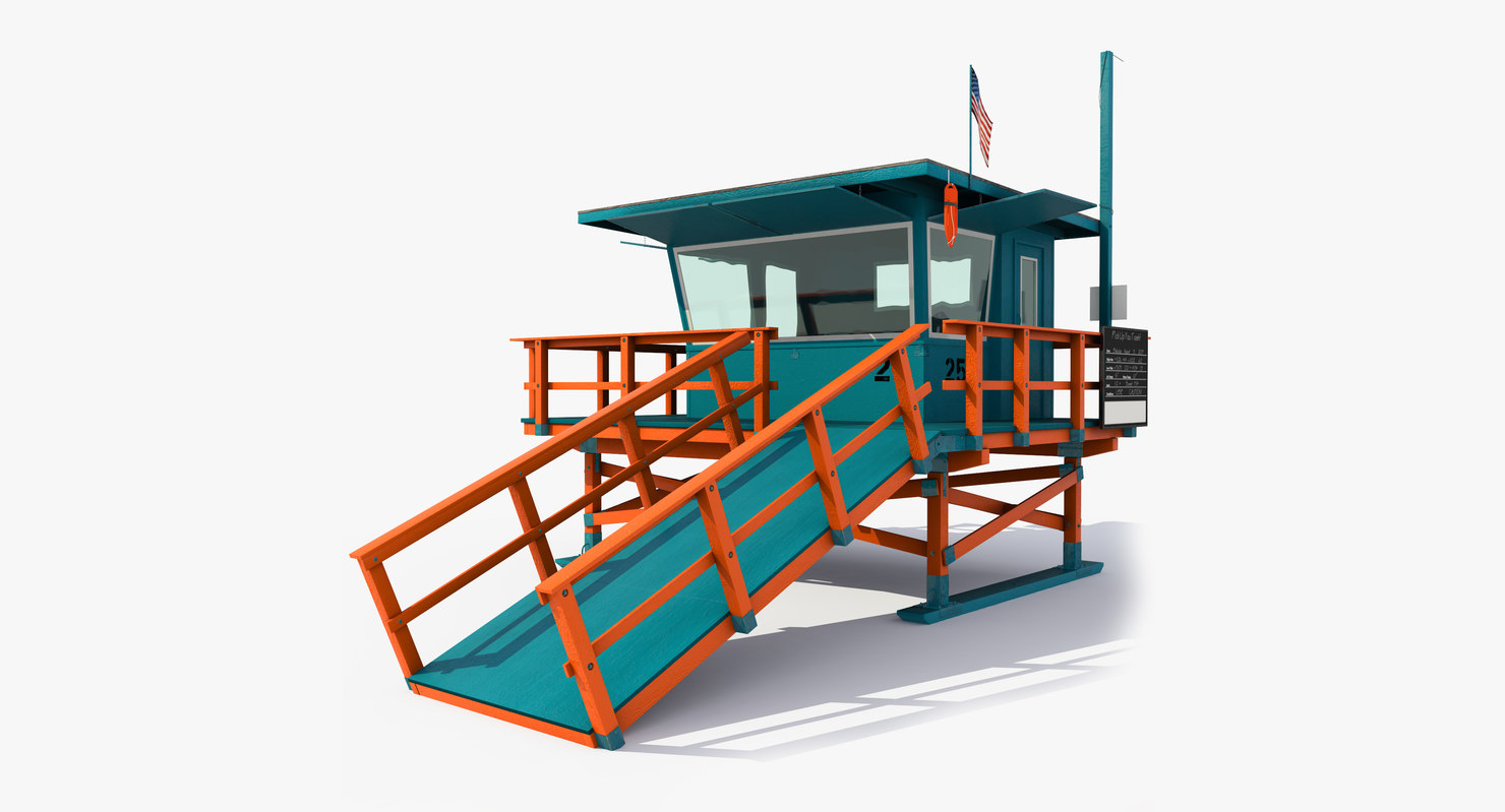 lifeguard station 3d max
