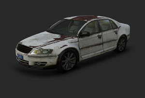 pbr rusted car 3d x