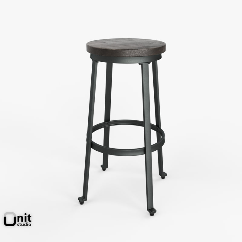 challiman stool style furniture 3d model