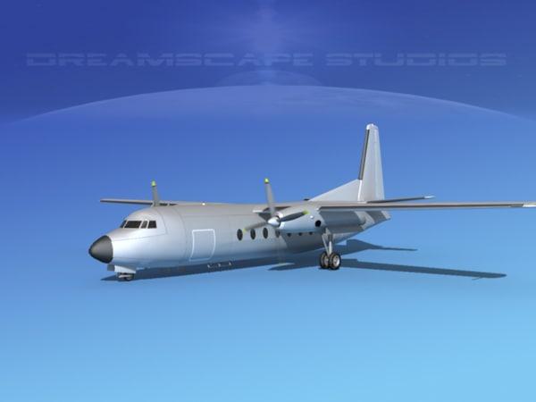 3d model fokker f-27