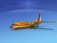 fokker f-27 new air 3d model