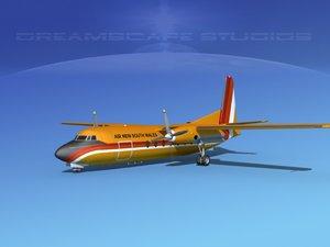 fokker f-27 new air 3d model